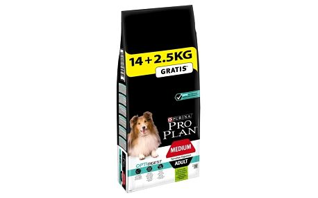Purina Pro Plan MEDIUM ADULT Sensitive Digestion Jehně 14 kg + 2,5 kg