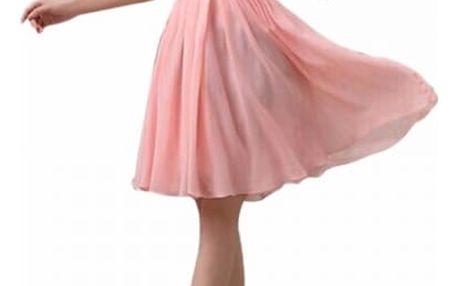 Vzdušné šaty bez ramínek