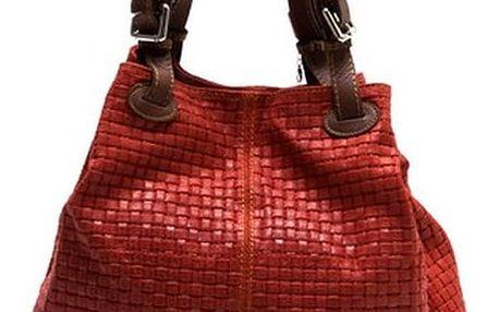Červená kožená kabelka Isabella Rhea Ariya - doprava zdarma!