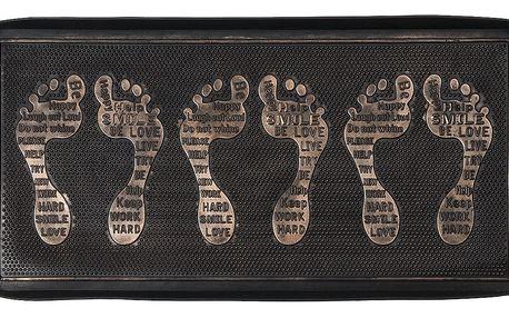 BO-MA Trading Gumová podložka na boty bronzová patina, 75 x 40 cm