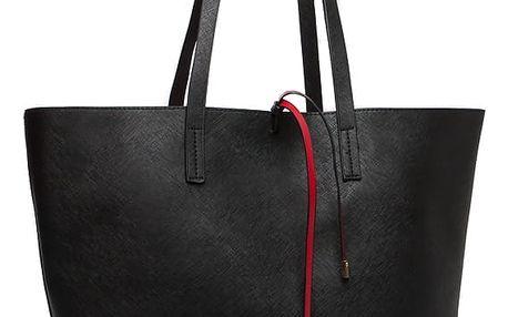 Dámská černočervená oboustranná kabelka Satine 6628