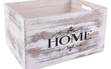 Orion Dřevěná bedýnka Home, 34 x 24 cm