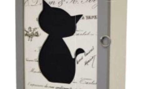 Skříňka na klíče s kočkou