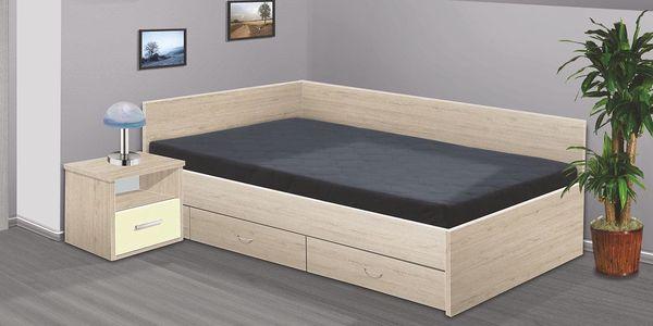 Manželská postel RENÁTA 200x180 vč. roštu, matrace a ÚP