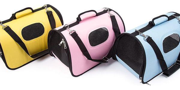 Transportní taška na domácího mazlíčka, růžová3