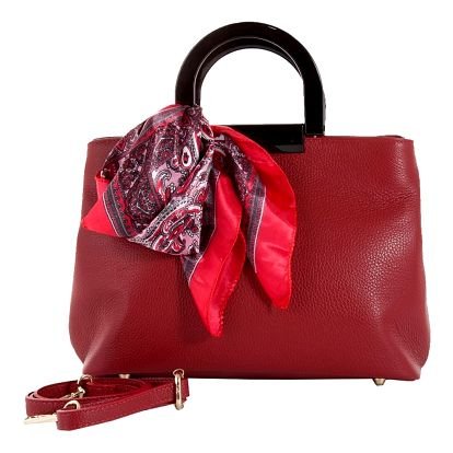 Červená kabelka z pravé kůže Andrea Cardone Angelo - doprava zdarma!