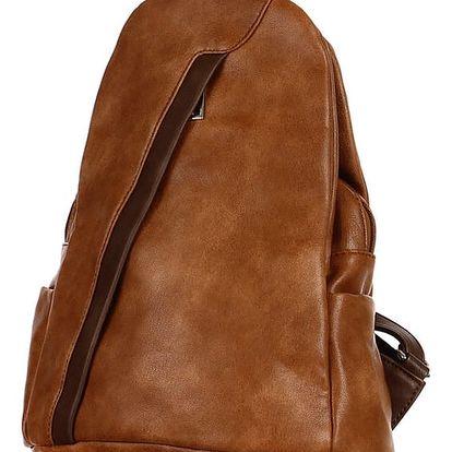 Koženkový batoh/kabelka 3V1 hnědá