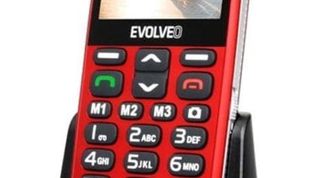 Mobilní telefon Evolveo EVOLVEO EasyPhone XD pro seniory (EP-600-XDR) červený