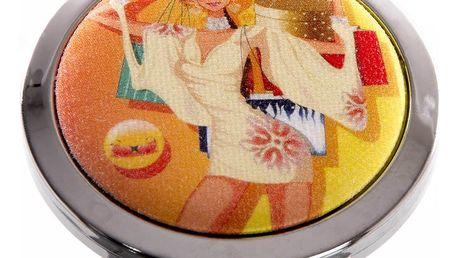 Kapesní kosmetické zrcátko Girls oranžové