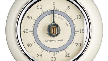 Kuchyňská magnetická minutka v krémové barvě Kitchen Craft Living Nostalgia