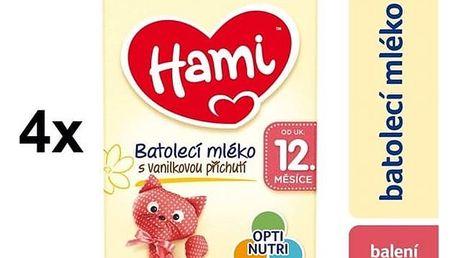 Kojenecké mléko Hami 3 Vanilka od ukočeného 12. měsíce, 600g x 4ks