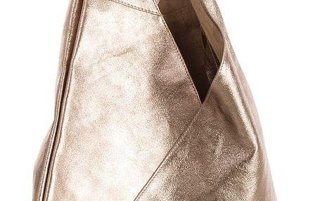 Kabelka z pravé kůže v bronzové barvě Andrea Cardone - doprava zdarma!