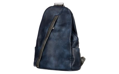 Koženkový batoh/kabelka 3V1 tmavě modrá