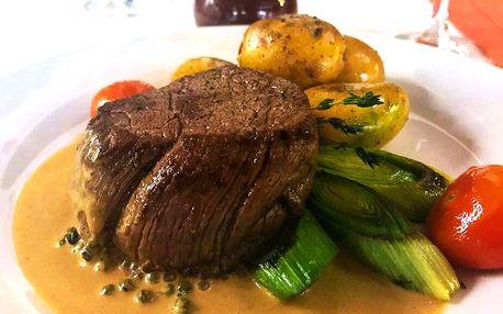 Hovězí pfeffer steak a příloha dle výběru pro 2