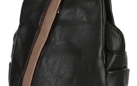 Koženkový batoh/kabelka 3V1 černá