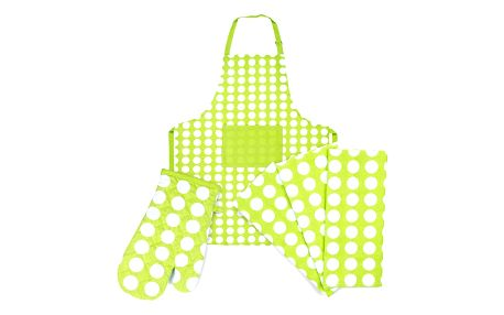 4Home Výhodná kuchyňská sada Zelený puntík