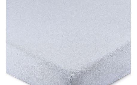 4Home Jersey prostěradlo s elastanem modrá, 180 x 200 cm