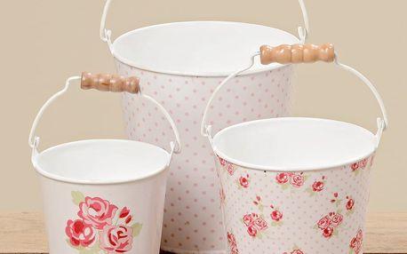 Sada 3 dekorativních kyblíků Boltze Rosie