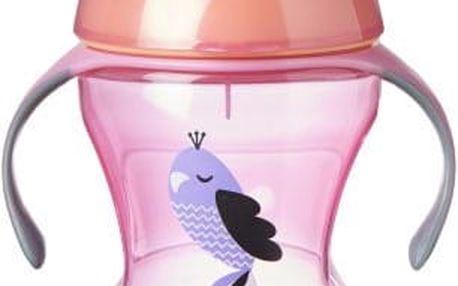 TOMMEE TIPPEE Netekoucí hrnek Explora Easy Drink 230 ml 6m+, růžový