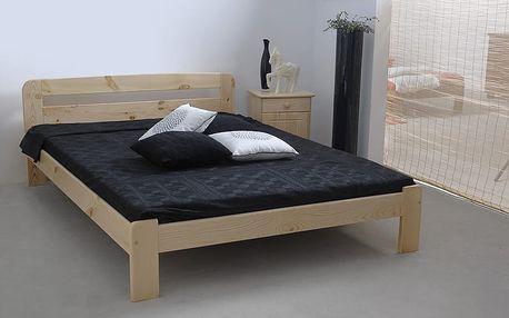 Dřevěná postel Sara 140x200 + rošt ZDARMA borovice