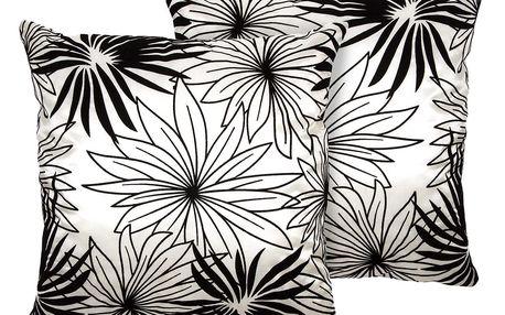 Jahu Povlak na polštářek Basic Květy bílá, 40 x 40 cm, sada 2 ks