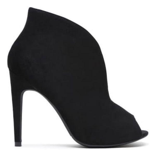 Dámské černé kotníčkové boty Angelika 1191