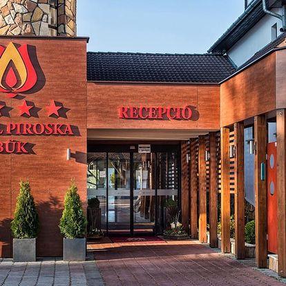Bük ve 4* hotelu Piroska s wellness, polopenzí i vstupenkou do lázní