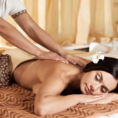 60min. tradiční thajská nebo relaxační olejová masáž