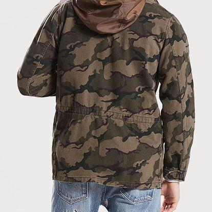 Bunda LEVI'S Unlined Field Jacket X Roundcamo Wren P Barevná
