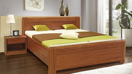 Masivní lakovaná manželská postel ELZA 2 180x200 vč. roštu a ÚP