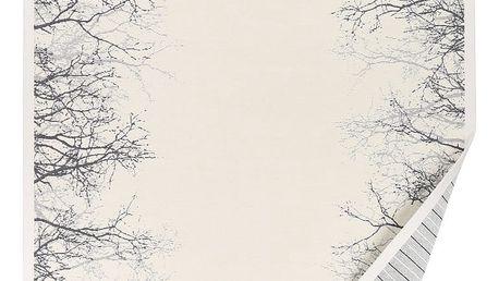 Bílý vzorovaný oboustranný koberec Narma Puise, 70x140cm - doprava zdarma!