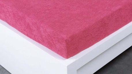 XPOSE ® Froté prostěradlo Exclusive dvoulůžko - karmínová 200x220 cm
