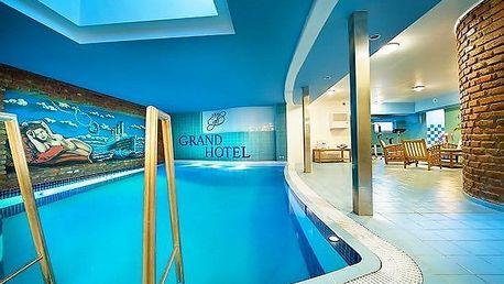 3denní romantický pobyt pro 2 s bazénem v Grand Hotelu**** Třebíč na Vysočině
