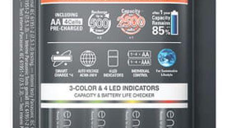 Nabíječka Panasonic Smart-Quick Charger pro AA,AAA + 4x Panasonic Eneloop Pro 2500mAh (K-KJ55HCD40E) černá