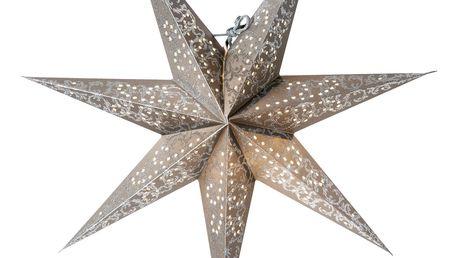 watt & VEKE Závěsná hvězda Ludwig Silver/Silver 44 cm, šedá barva, stříbrná barva, plast, papír