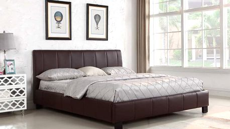 Postel Malibu black 180 x 200 cm + rošt Hometrade