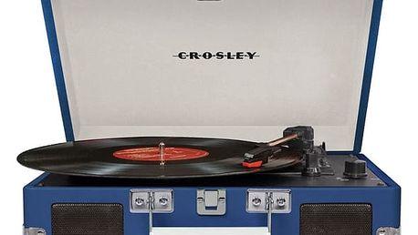 Gramofon Crosley Cruiser Deluxe (CR8005D-BL4) modrý