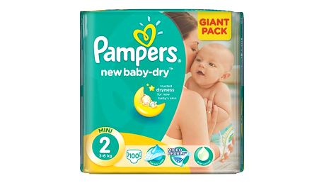 Plenky Pampers New Baby-dry vel.2 Mini, 100ks