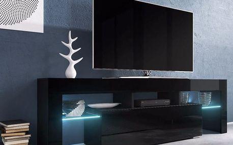 RTV stolek TORO, černá matná/černý lesk