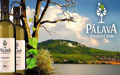 3 až 6denní vinařský pobyt pro 2 se snídaní a slevami v penzionu Vinařský dům Pálava
