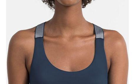 Calvin Klein modrá podprsenka Bralette Lightly Lined