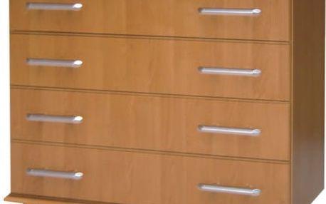 Klasická šuplíková komoda ROMA - 4 zásuvky