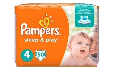 Pampers Sleep&Play , 4 maxi, 50 ks