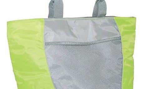 Chladící taška Calter plážová SP 30L stříbrná/zelená