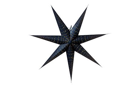 watt & VEKE Závěsná svítící hvězda Isadora Blue 80 cm, modrá barva, papír