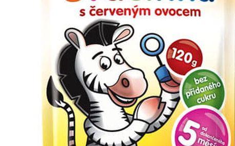 8x HAMÁNEK Svačinka 100% ovoce s červeným ovocem, (120 g) - ovocný příkrm