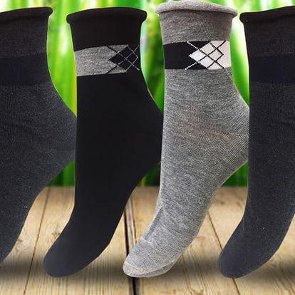 Bambusové ponožky pro pány se zdravotním lemem