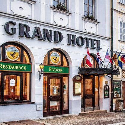 3–4denní wellness pobyt pro 2 osoby v Grand Hotelu Černý Orel*** v Jindřichově Hradci