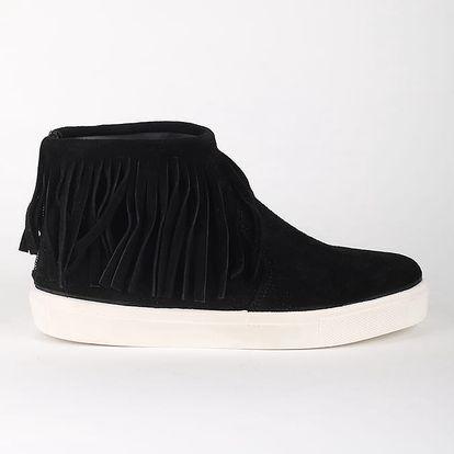 Boty Primadonna Calzatura Sneakers Camoscio Nero Černá