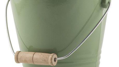 IB LAURSEN Smaltovaný kyblík Green, zelená barva, smalt